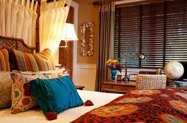 décoration-orientale-chambre-à-coucher-à-inspiration-morocaine