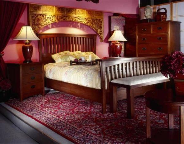 décoration-orientale-chambre-à-coucher-luxueuse