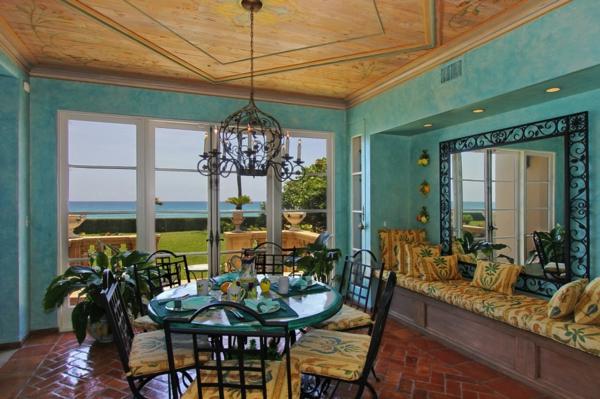 décoration-orientale-intérieur-en-marron-et-turquoise
