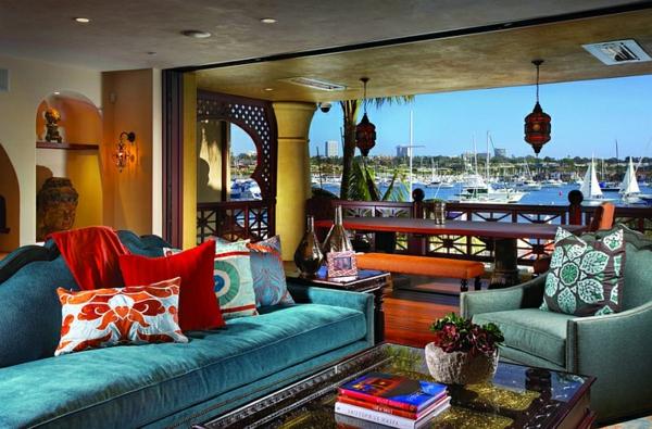 décoration-orientale-intérieur-radieux-et-coloré