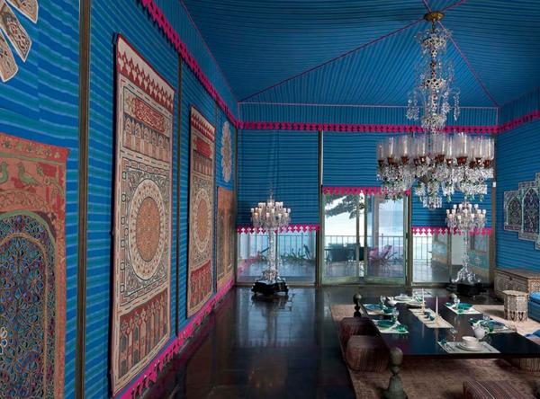 décoration-orientale-un-salon-bleu