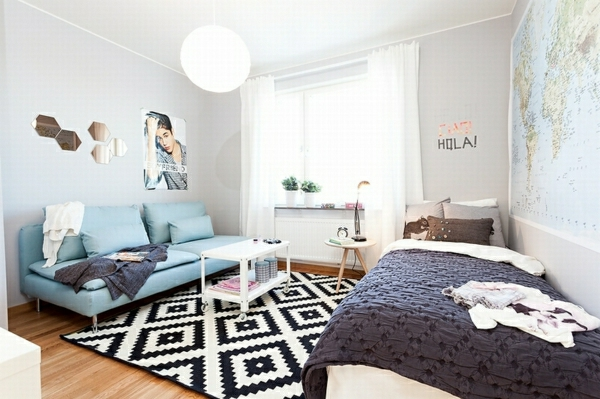 décoration-scandinave-chambre-d'ado
