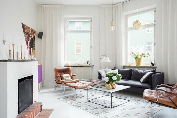 décoration-scandinave-deux-fauteuils-en-cuir