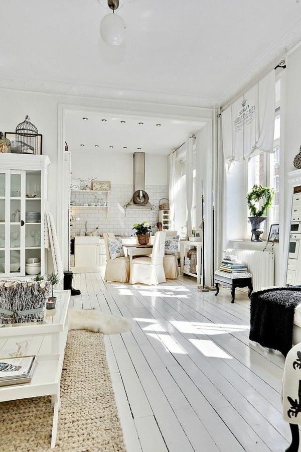 décoration-scandinave-plancher-en-bois-blanc
