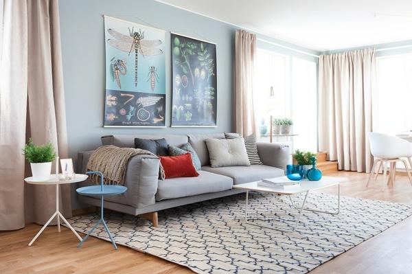 décoration-scandinave-tapis-géométrique