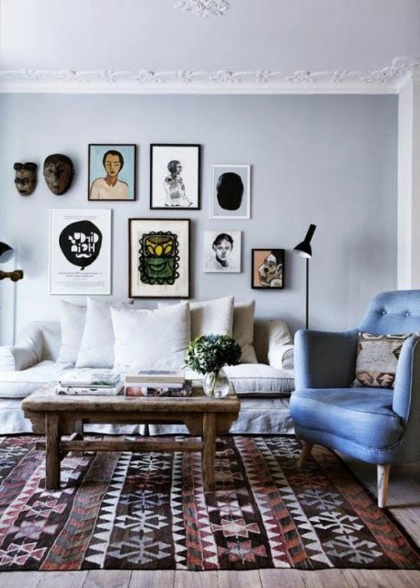 décoration-scandinave-tapis-nordique-table-en-bois