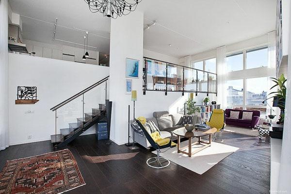 décoration-scandinave-un-loft-nordique-impressionnant