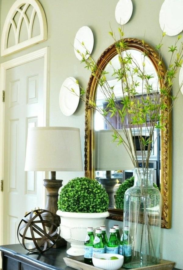 décorer-sa-chambre-belle-fleurs-mirroir