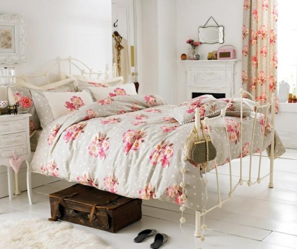 décorer-sa-chambre-cute-lit-couverture-vintage-rural-lit-en-fer-spécial