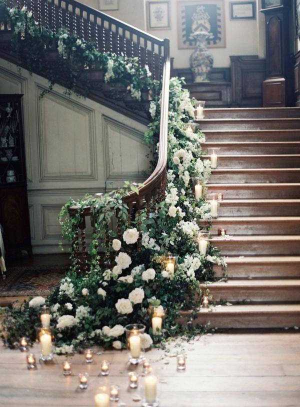 escalier-décoration-roses