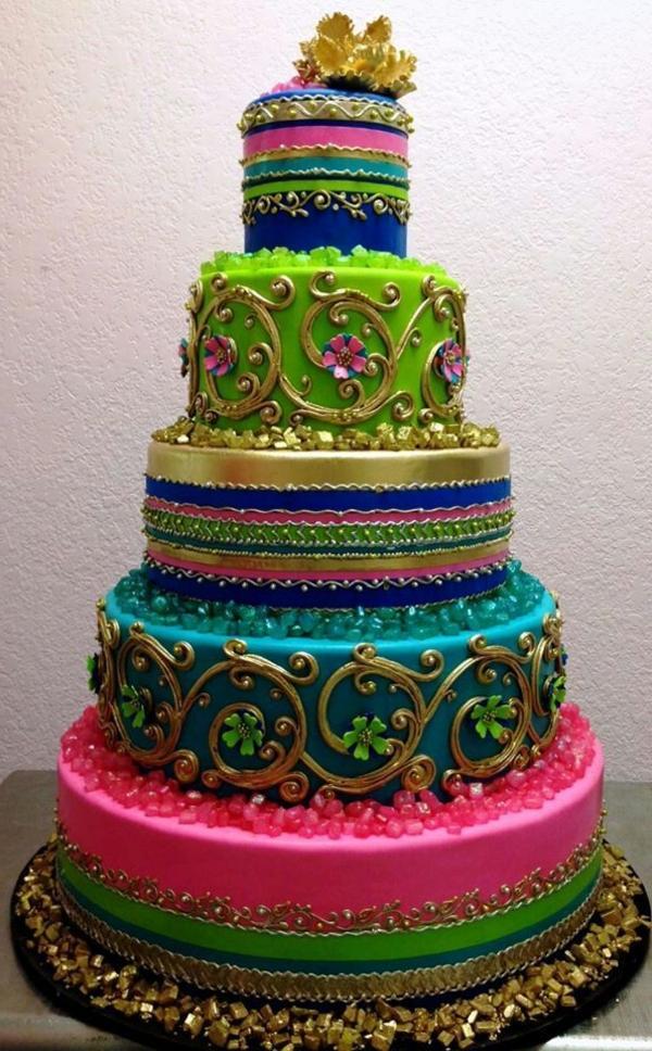 gâteau-original-anniversaire-couleurs-jolie