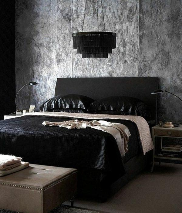gothique-chambre-à-coucher-noir