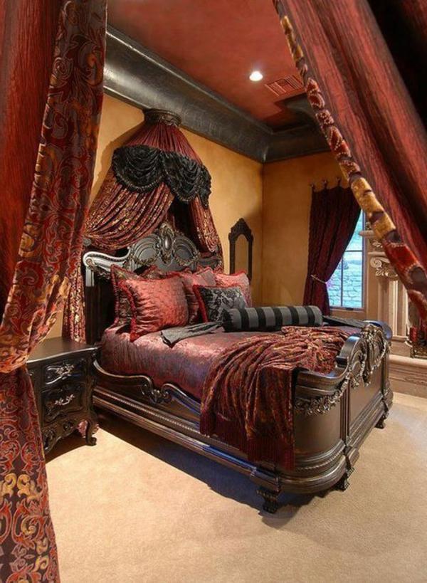 gothique-chambre-à-coucher-rouge