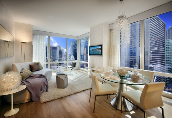 home-designs-amazing-and-luxury-nyc-penthouses-ideas-with-brown-wall-and-white-curtain-also-white-sofa-and-dining-table-with-chandelier-also-rug-and-flat-screen-tv-stunning-and-luxury-nyc-penthouses-i-resized