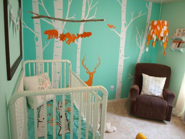 idée-créative-dormir-couleur-différent-renard-arbre-cerf-enchantée
