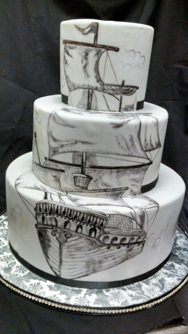 idées-créatives-pour-gâteaux-originaux-bâteau-pirate