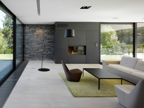 idées-déco-ambiance-impréssionant-lа-pierre-de-parement-intérieur-mur-intérieur-séjour-en-gris-tapis-vert