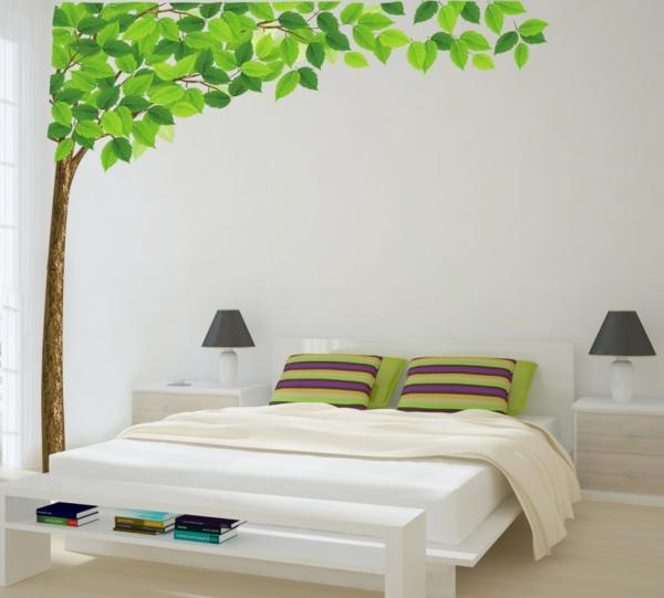 idées-pour-fabriquer-une-tête -de-lit-arbre-déco-artificiel