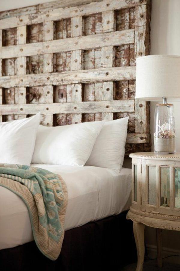 idées-pour-fabriquer-une-tête de-lit-bois-recicler