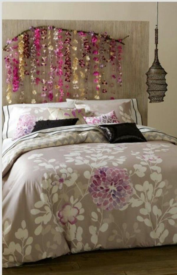 idées-pour-fabriquer-une-tête-de-lit-fleurs-diy