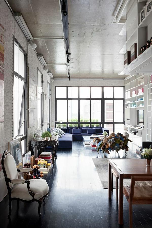 intérieur-d'un-appartement-new-yorkais-luxe-salle-de-séjour