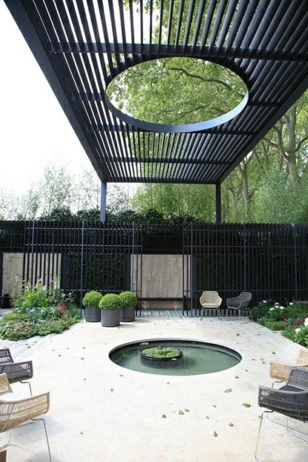 intérieur-organique-arbre-salle-de-séjour-piscine