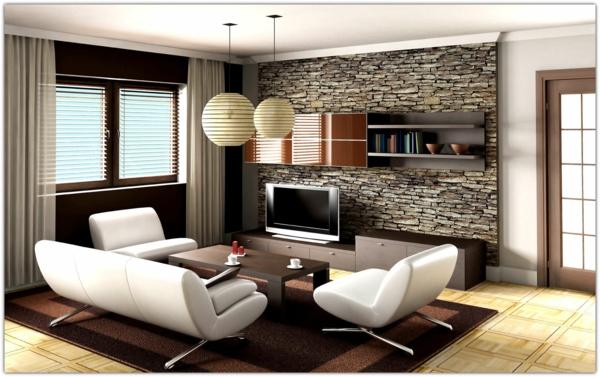 intérieur-originale-salle-de-séjour-mur-en-pierre-jolie