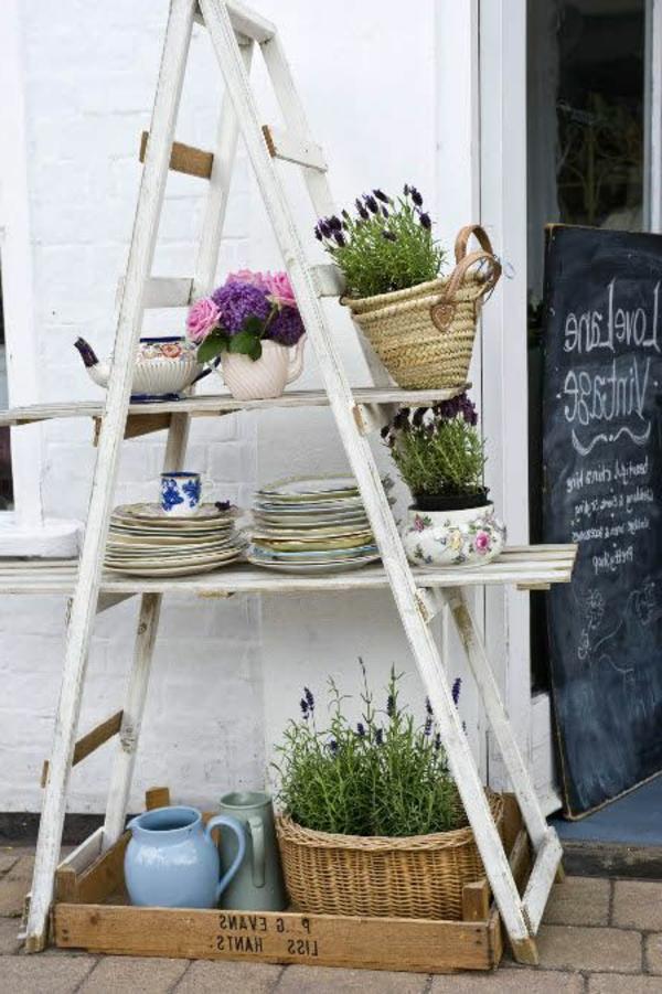jardin-échelle-blanche-ranger-fleurs