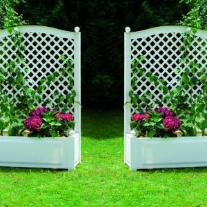 La jardinière avec treillis vous aide à réaliser une décoration superbe!