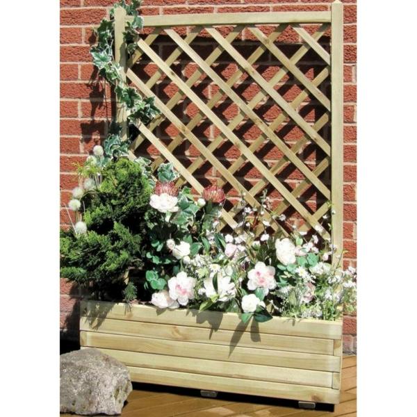 jardinière-avec-treillis-en-bois-fleurs-roses