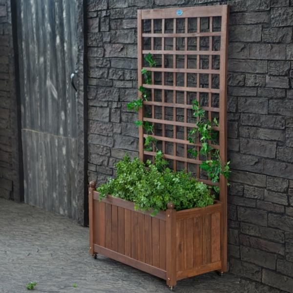 jardinière-avec-treillis-jardinage-vertical