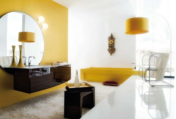 jaune-blanc-salle-de-bain-zen-vasque