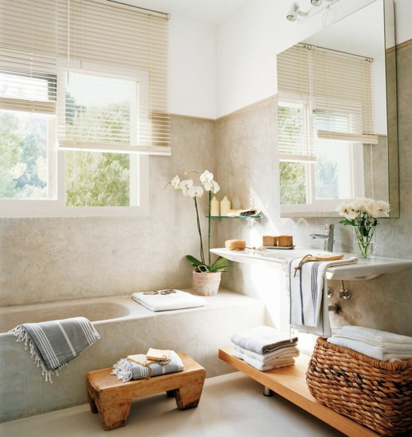 Exemple Salle De Bain Zen : déco-salle-de-bain-zen-jolie-Salle-de-bain-beihge-minimaliste-douche …