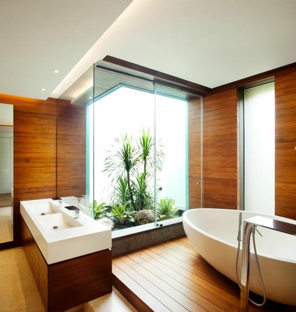 joviale-nature-plante-verte-d-intérieur-salle-de-bain-baignoire