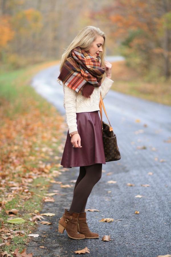 jupe-corolle-jupe-pour-l'hiver-en-cuir