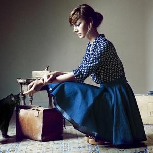 La jupe corolle pour une silhouette avec auréole