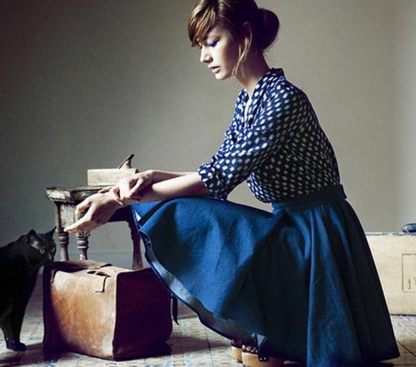 jupe-corolle-un-outfit-vintage-élégant