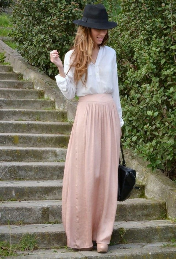 jupe-longue-rose