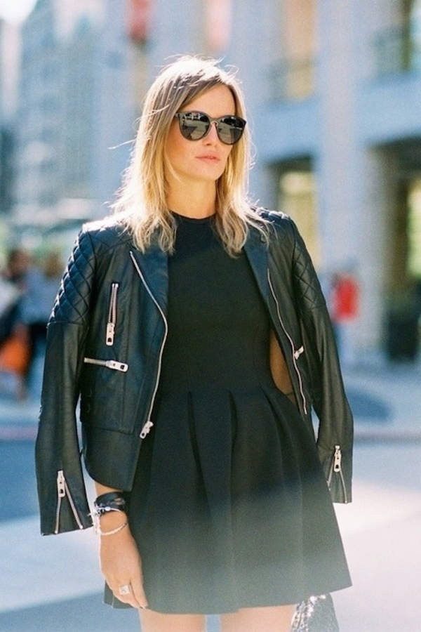 robe noire rock chic les tendances de la mode fran aise de la saison 2018. Black Bedroom Furniture Sets. Home Design Ideas