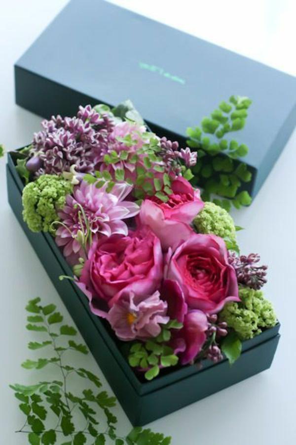 68 id es de composition florale for Bouquet de fleurs dans une boite