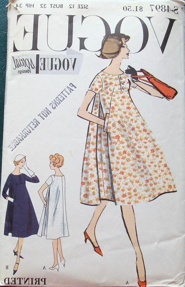 la-mode-se-répete-vogue-issue-de-1960-robes-trapèze-à-la-mode