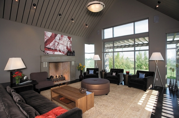 lampadaire-tripode-trois-lampadaires-tripodes-dans-une-salle-de-séjour-originale