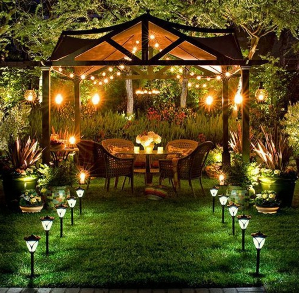 Emejing Decoration Jardin Nuit Contemporary - Matkin.info - matkin ...
