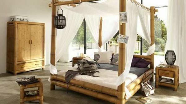 lit-en-bambou-chambre-à-coucher-charmante
