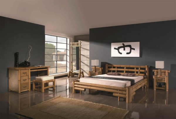 le lit en bambou authenticit et touche zen. Black Bedroom Furniture Sets. Home Design Ideas