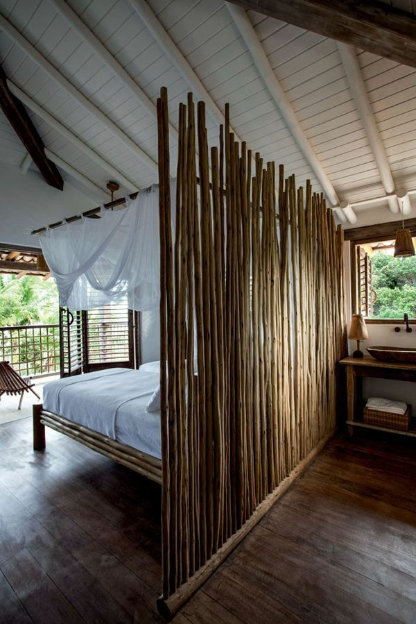 Le lit en bambou authenticit et touche zen - Separation de chambre pas cher ...