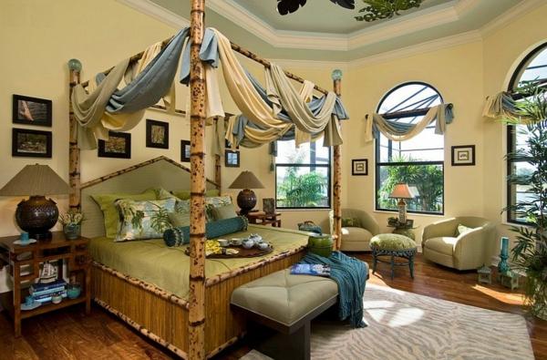 lit-en-bambou-remarquable-intérieur-exotique