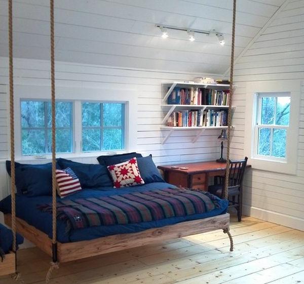 lit suspendu design id e inspirante pour la conception de la maison. Black Bedroom Furniture Sets. Home Design Ideas
