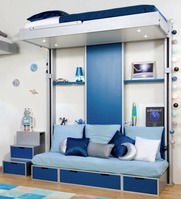 lit-suspendu-chambre-de-teenage-bleue