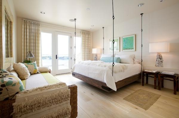 lit-suspendu-en-bois-chambre-à-coucher-claire-et-lumineuse